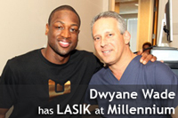 Watch Dwyane Wade, before and after his LASIK Experience at Millennium Laser Eye Centers in South Florida