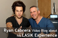 Recording Artist Ryan Cabrera, Video Blog about his LASIK experience.