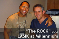 "Dwayne ""The Rock"" Johnson  gets LASIK at Millennium Laser Eye Centers"